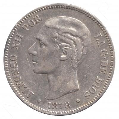 5 pesetas ESPAÑA 1878 - Alfonso XII *78* EM.M