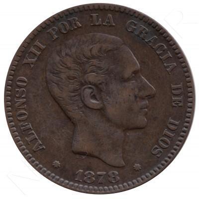 10 centimos ESPAÑA 1878 - Alfonso XII BARCELONA #63
