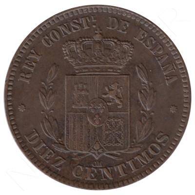 10 centimos ESPAÑA 1878 - Alfonso XII BARCELONA #65