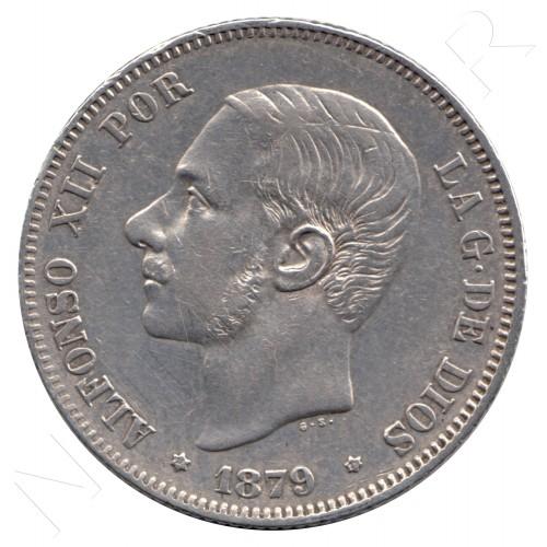 2 pesetas ESPAÑA 1879 - Alfonso XII *79*