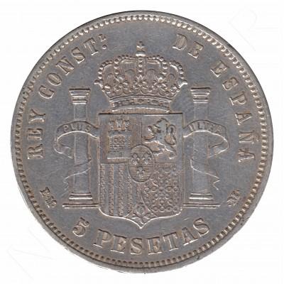 5 pesetas ESPAÑA 1879 - Alfonso XII *79* EM.M