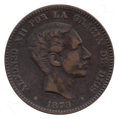 10 centimos ESPAÑA 1879 - Alfonso XII BARCELONA #66