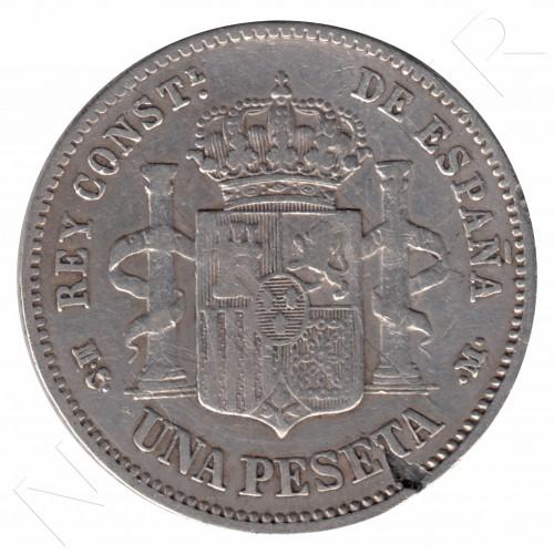 1 peseta ESPAÑA 1881 - Alfonso XII *81*