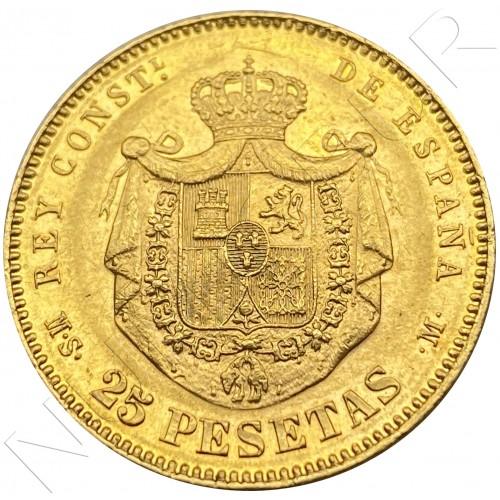 25 pesetas SPAIN 1882 - Alfonso XII *18* *82* MS.M