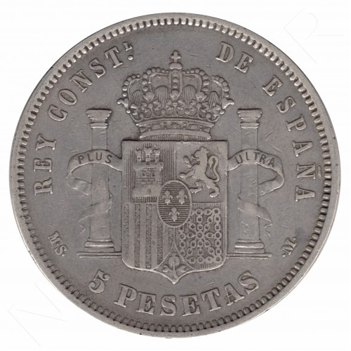 5 pesetas ESPAÑA 1882 - Alfonso XII *82* MSM