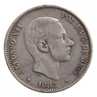 50 centavos peso ESPAÑA 1882 - Alfonso XII MANILA #47