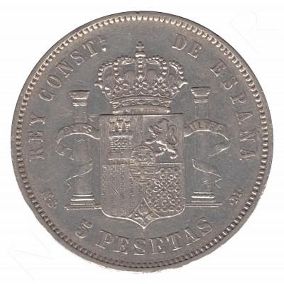 5 pesetas SPAIN 1883 - Alfonso XII *83* MSM