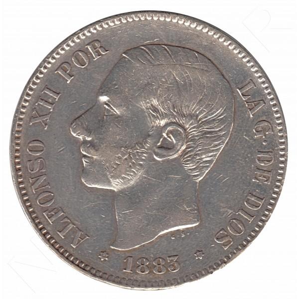 5 pesetas ESPAÑA 1883 - Alfonso XII *83* MSM