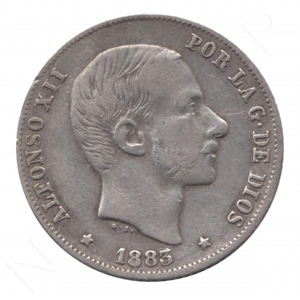 20 centavos peso ESPAÑA 1883 - Alfonso XII MANILA #59