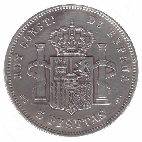5 pesetas ESPAÑA 1884 - Alfonso XII *84* MSM