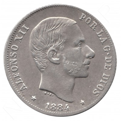 20 cents peso SPAIN 1884 - Alfonso XII MANILA #46