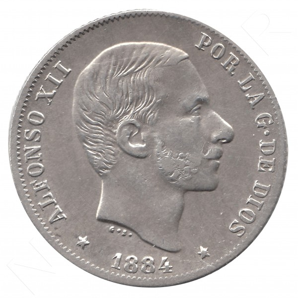 20 centavos peso ESPAÑA 1884 - Alfonso XII MANILA #46