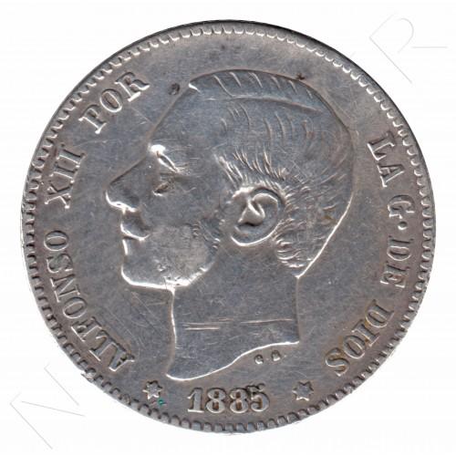 1 peseta ESPAÑA 1885 - Alfonso XII *85*