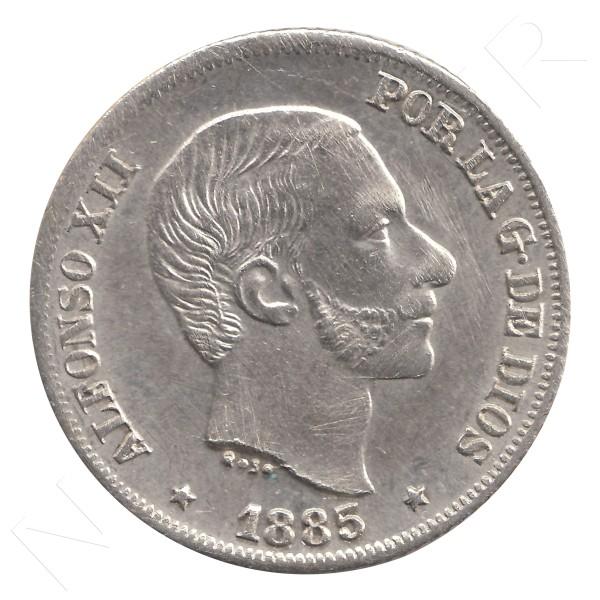 10 centavos peso ESPAÑA 1885 - Alfonso XII MANILA #30