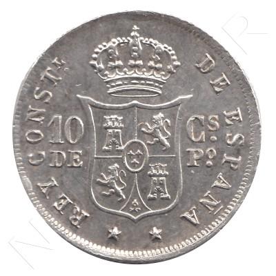 10 cents peso SPAIN 1885 - Alfonso XII MANILA