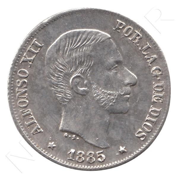 10 centavos peso ESPAÑA 1885 - Alfonso XII MANILA #34