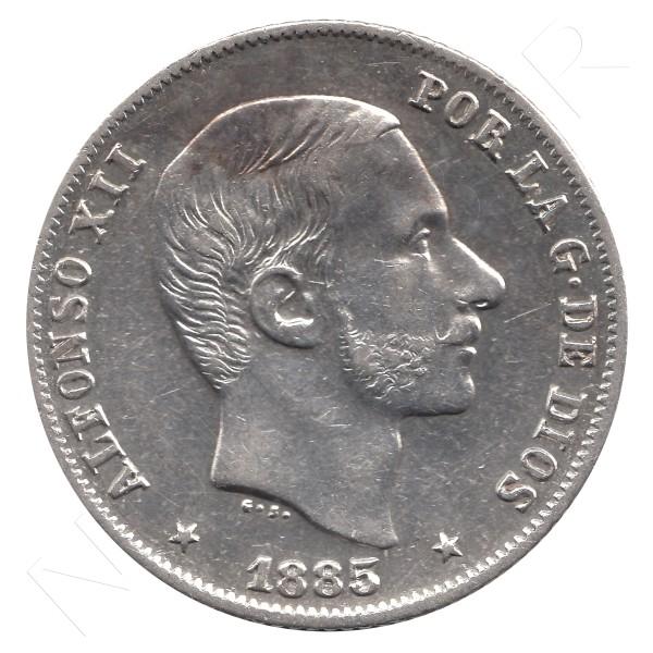 20 centavos peso ESPAÑA 1885 - Alfonso XII MANILA #45