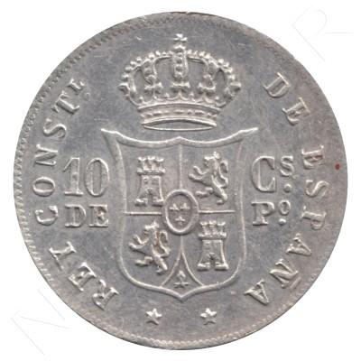 20 cents peso SPAIN 1885 - Alfonso XII MANILA #59