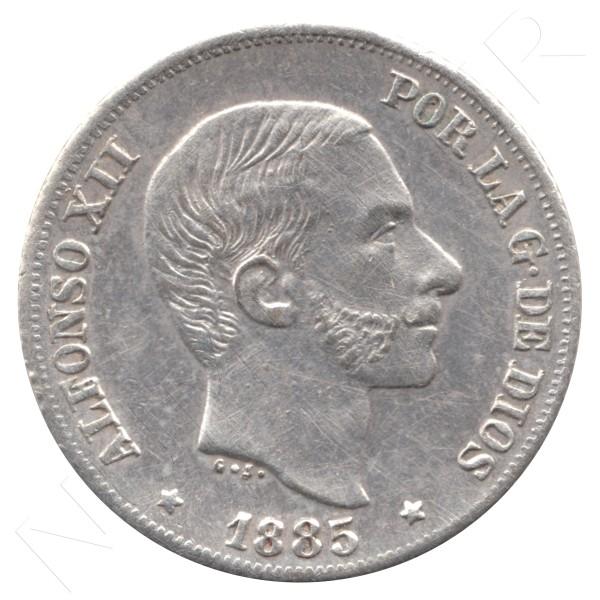 20 centavos peso ESPAÑA 1885 - Alfonso XII MANILA #57