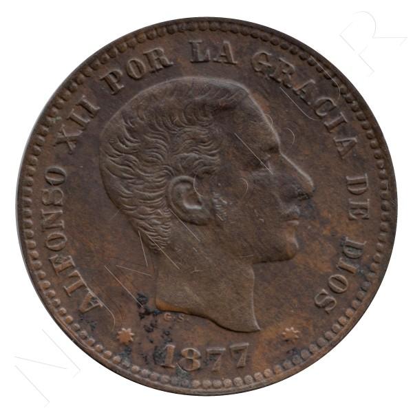 5 centimos ESPAÑA 1877 - BARCELONA Alfonso XII
