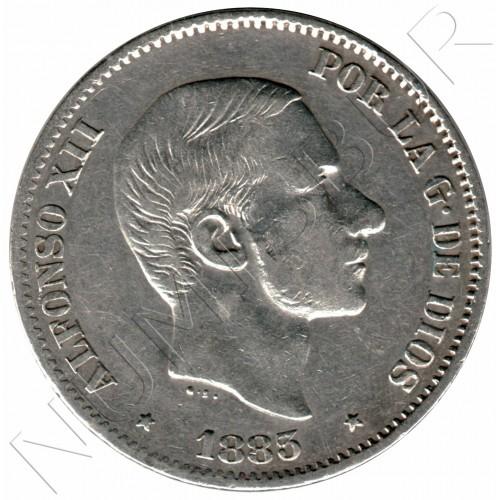 50 centavos peso ESPAÑA 1883 - Alfonso XII MANILA #2