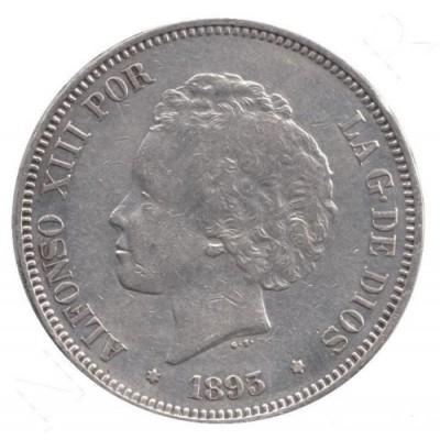 5 pesetas ESPAÑA 1893 - Alfonso XIII  *93* PG.V