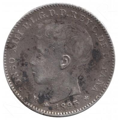 20 centavos peso ESPAÑA 1895 - Alfonso XIII PUERTO RICO #50