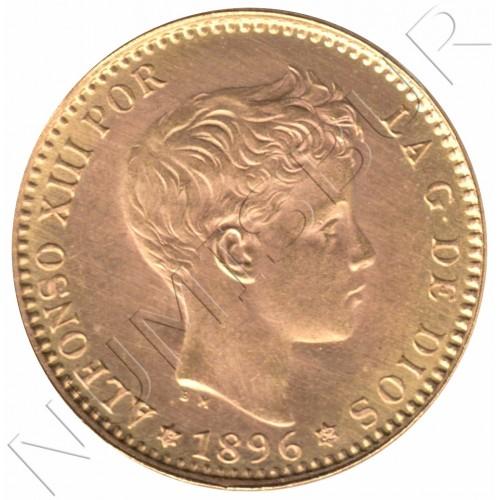 20 pesetas ESPAÑA 1896 - Reacuñacion oficial 1962 *19* *62*