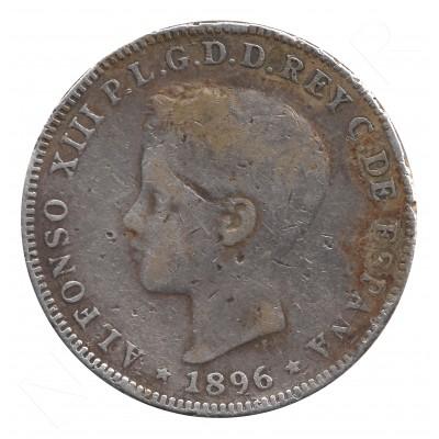 40 centavos peso ESPAÑA 1896 - Alfonso XIII PUERTO RICO #51