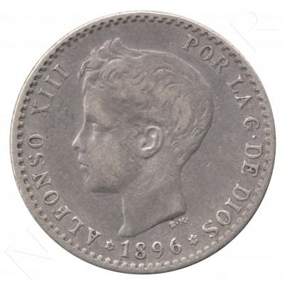 50 centimos ESPAÑA 1896 - Alfonso XIII *9* *6* #62
