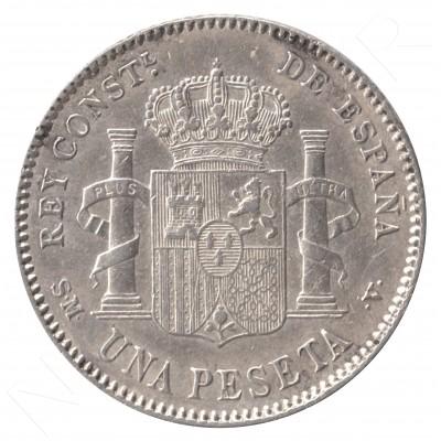 1 peseta ESPAÑA 1902 - Alfonso XIII *19* *02* #93