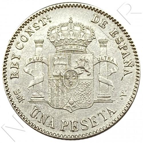 1 peseta SPAIN 1902 - Alfonso XIII *02*
