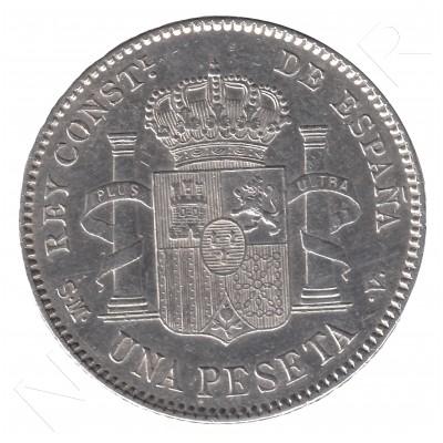 1 peseta ESPAÑA 1903 - Alfonso XIII *19* *03* #36