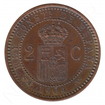 2 cents SPAIN 1904 - Alfonso XIII SM. V *04* #79