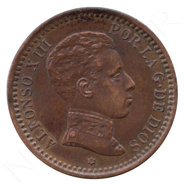 2 centimos ESPAÑA 1904 - Alfonso XIII SM. V *04* #79