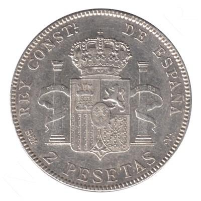 2 pesetas SPAIN 1905 - Alfonso XIII *19* *05* #95