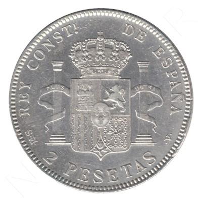 2 pesetas SPAIN 1905 - Alfonso XIII *19* *05* #83