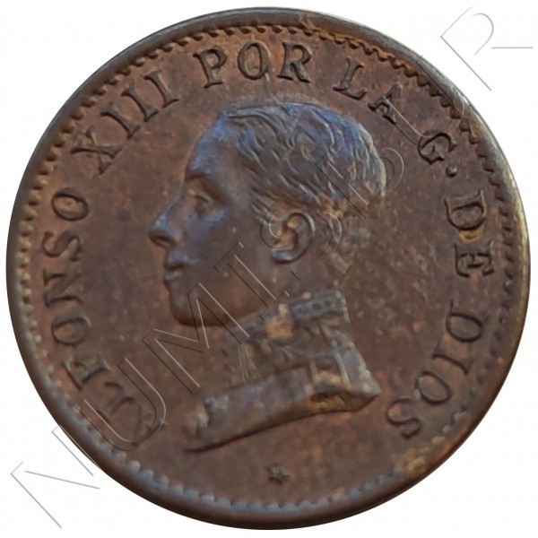 1 cent SPAIN 1911 - Alfonso XIII PC. V *1*