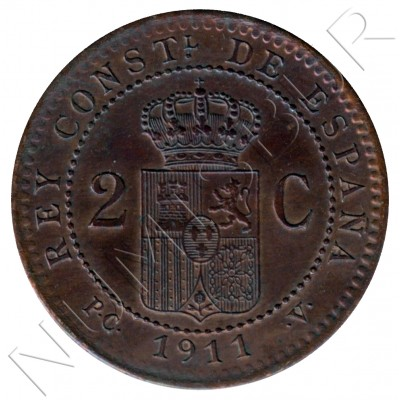 2 cents SPAIN 1911 - Alfonso XIII PC. V *11*