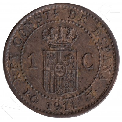 1 cent SPAIN 1911 - Alfonso XIII PC. V *1* #70