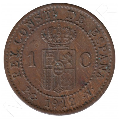 1 cent SPAIN 1912 - Alfonso XIII PC. V *2* #78