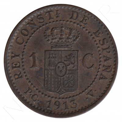 1 cent SPAIN 1913 - Alfonso XIII PC. V *3* #103