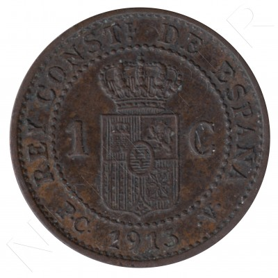 1 cent SPAIN 1913 - Alfonso XIII PC. V *3* #111