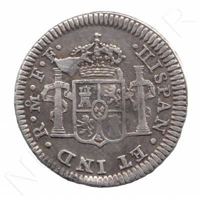 1/2 Real SPAIN 1783 - Carlos III MEXICO FF