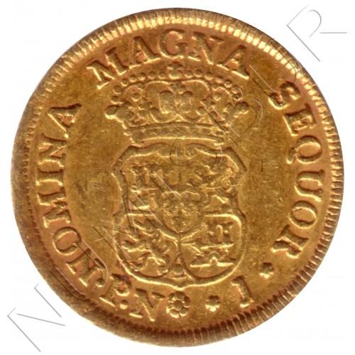 2 escudos ESPAÑA 1768 - PN. J. Popayan (Colombia)