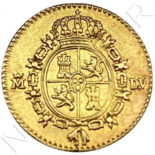 1/2 escudos SPAIN 1786 - MADRID DV