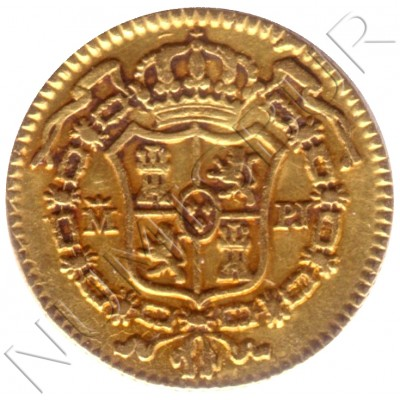 1/2 escudo SPAIN 1773 - Carlos III MADRID PJ