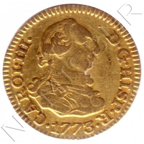 1/2 escudo ESPAÑA 1773 - Carlos III MADRID PJ