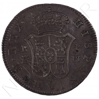 4 reales SPAIN 1775 - Carlos III MADRID PJ