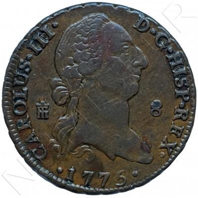 8 maravedies SPAIN 1775 - Segovia (Carlos III)